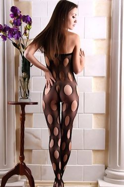 Marta in Fishnet Feline