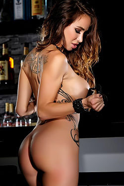 Sandee Westgate In Sexy Lingerie At The Bar